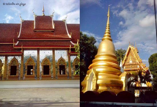 Templo Wat Mai en el centro de Mae Sot