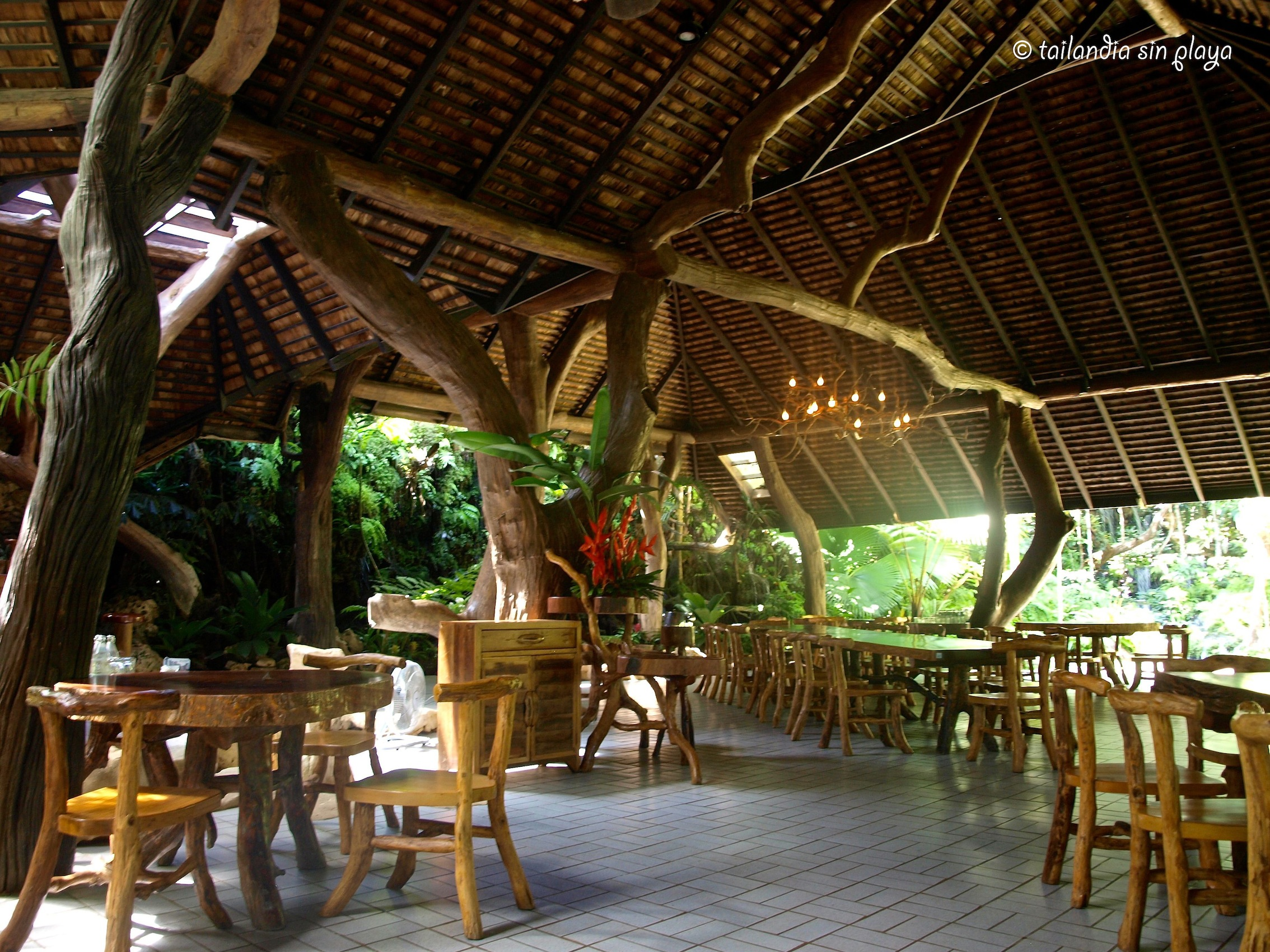 Welcome to the jungle tailandia sin playa for Restaurante madera