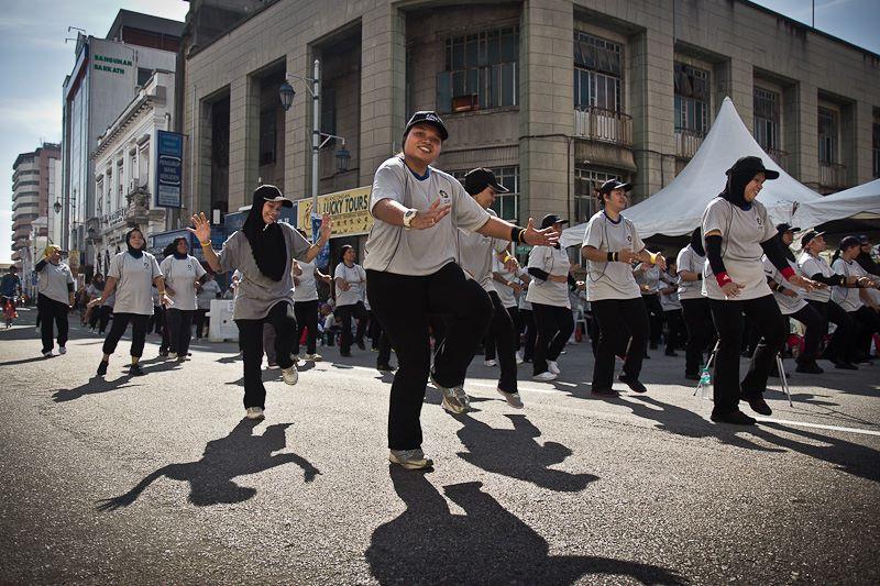 Bailes populares en las calles