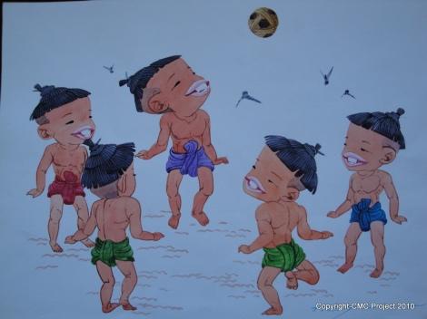 mural takraw - caneball