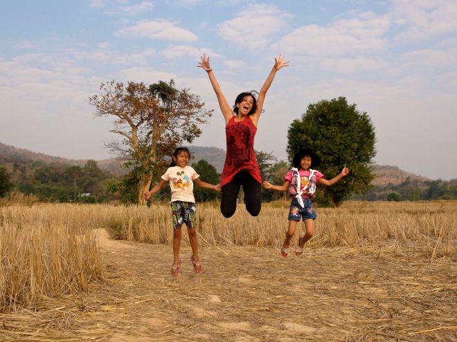 Jugando en Ban Phu