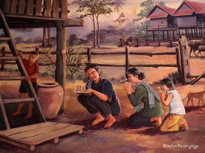 Pintura de la historia de Isan