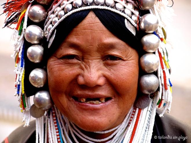 Mujeres etnia akhar Mae Salong